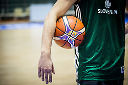 Ball during training session of Slovenian National Basketball team at day 2 of the FIBA EuroBasket 2017 at Pasila Sports Arena in Helsinki, Finland on September 1, 2017. Photo by Vid Ponikvar / Sportida