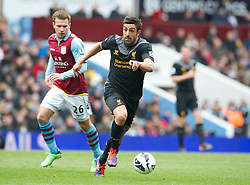 BIRMINGHAM, ENGLAND - Easter Sunday, March 31, 2013: Liverpool's Jose Enrique in action against Aston Villa during the Premiership match at Villa Park. (Pic by David Rawcliffe/Propaganda)