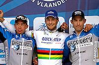 Tom Boonen Flanders  2.04.2006 Brugge Ninove Leife Hoste, George Hincapie