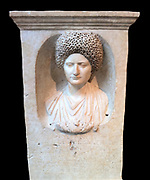 Marble Funerary stele, Flavian period, ca. 69-81