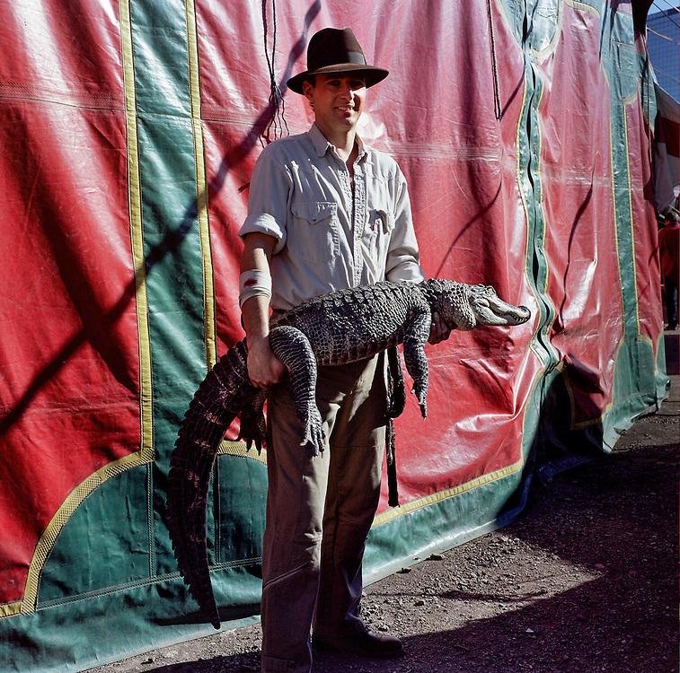 Alligator man. Circus Raluy
