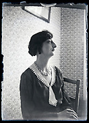 casual indoors portrait of adult woman looking sideways France circa 1930s