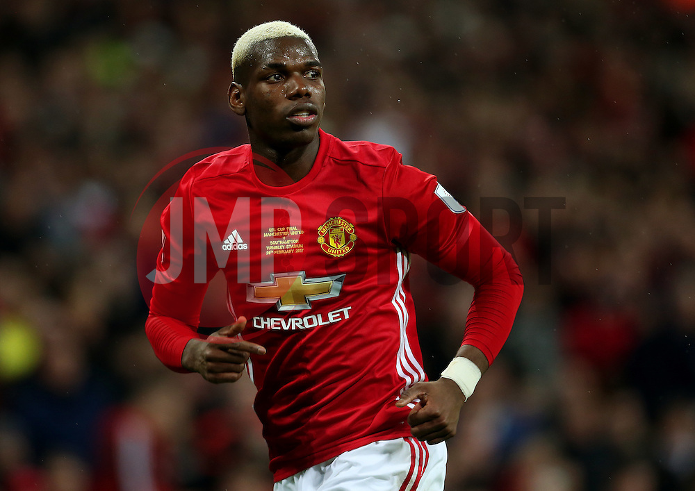 Paul Pogba of Manchester United  - Mandatory by-line: Matt McNulty/JMP - 26/02/2017 - FOOTBALL - Wembley Stadium - London, England - Manchester United v Southampton - EFL Cup Final