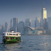 Star ferry toward convention centre, Hong Kong, China (January 2006)