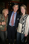 hon Georgiana Crofton, Col Peter Hunter and Lois Cox, PJ's Annual Polo Party . Annual Pre-Polo party that celebrates the start of the 2007 Polo season.  PJ's Bar & Grill, 52 Fulham Road, London, SW3. 14 May 2007. <br />