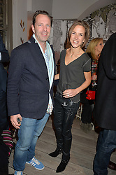BRUCE DOUGLAS and his wife MIRANDA DONOVAN at a Fondue evening hosted by Rose van Cutsem and her brother Tom Astor to celebrate the new ski Season with leading ski resort Meribel, Besson Clothing and ESF ski schools at Maggie & Rose, 58 Pembroke Road, London on 7th November 2016.