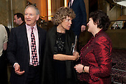 ANTHONY FIENNES TROTMAN; KATE HOEY; JULIA PALCHER,  House of Lords and House of Commons Parliamentary Palace of Varieties in aid of Macmillan Cancer Support. <br /> Park Lane Hotel, Piccadilly, London, 7 March 2012.