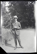 adult man in park setting early 1900s Europe France