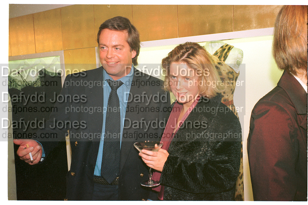 THE MARQUESS OF BLANDFORD; EDLA GRIFFITHS, Valentino party. Sloane St. London. 21 October 1996.