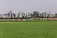 The peloton passes on the countryside close to Tortona during Milano Sanremo 2016 (296 km)