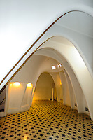 Spain, Barcelona. Casa Batlló is one of Antoni Gaudí's masterpieces. The loft