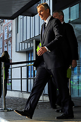 © under license to London News Pictures.  Former Prime Minister Tony Blair leaves the Queen Elizabeth Conference Center in Westminster after giving his second day of evidence to the Chilcott Enquiry into the events that led to the Iraq war..Photographer: Lee Durant.Date: 21/01/11