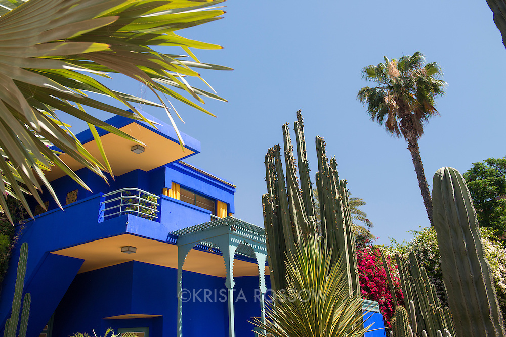 The Majorelle Garden in Marrakech was designed by French artist Jacques Majorelle and it is where the designer Yves Saint Laurent's ashes were scattered.