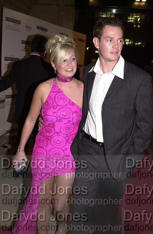 Helen and Paul of UK Big Brother 2. Pantene Pro-V Awards. Royal Albert Hall. 17 October 2001. © Copyright Photograph by Dafydd Jones 66 Stockwell Park Rd. London SW9 0DA Tel 020 7733 0108 www.dafjones.com