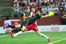 June 10, 2019 - Warsaw, Poland - Poland's forward Robert Lewandowski and goalkeeper Ariel Harush (ISR) during the UEFA Euro 2020 qualifier Group G football match Poland against Israel on June 10, 2019 in Warsaw, Poland. (Credit Image: © Foto Olimpik/NurPhoto via ZUMA Press)