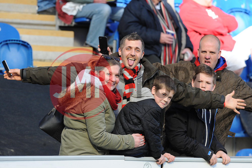 Bristol City fans - Photo mandatory by-line: Dougie Allward/JMP - Mobile: 07966 386802 22/03/2014 - SPORT - FOOTBALL - Colchester - Colchester Community Stadium - Colchester United v Bristol City - Sky Bet League One