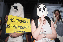 June 15, 2017 - Brussels, Belgium - Activists, dressed as animals, gathered in Brussels in solidarity with nine activists who were arrested at an action against the ECPA  (Credit Image: © Frederik Sadones/Pacific Press via ZUMA Wire)