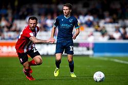 Luke Leahy of Bristol Rovers takes on Neal Eardley of Lincoln City - Mandatory by-line: Robbie Stephenson/JMP - 14/09/2019 - FOOTBALL - Sincil Bank Stadium - Lincoln, England - Lincoln City v Bristol Rovers - Sky Bet League One