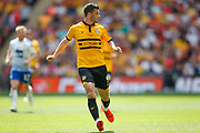 Newport County forward Padraig Amond (9) during the EFL Sky Bet League 2 Play Off Final match between Newport County and Tranmere Rovers at Wembley Stadium, London, England on 25 May 2019.