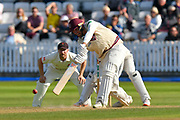 Jamie Overton of Somerset batting during the Specsavers County Champ Div 1 match between Somerset County Cricket Club and Lancashire County Cricket Club at the Cooper Associates County Ground, Taunton, United Kingdom on 5 September 2018.