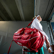 August 24, 2016, New Haven, Connecticut: <br /> Petra Kvitova of the Czech Republic walks through the tunnel before a match on Day 6 of the 2016 Connecticut Open at the Yale University Tennis Center on Wednesday, August  24, 2016 in New Haven, Connecticut. <br /> (Photo by Billie Weiss/Connecticut Open)