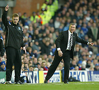 Photo: Aidan Ellis.<br /> Everton v Newcastle. The Barclays Premiership.<br /> 27/11/2005.<br /> Everton manager David Moyes and Newcastle boss Graeme Souness