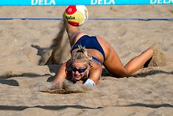 25-08-2019 NED: DELA NK Beach Volleyball, Scheveningen<br /> Last day NK Beachvolleyball / Esmee Priem