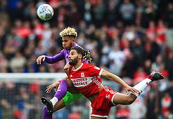 Lloyd Kelly of Bristol City challenges Ryan Shotton of Middlesbrough - Mandatory by-line: Matt McNulty/JMP - 14/04/2018 - FOOTBALL - Riverside Stadium - Middlesbrough, England - Middlesbrough v Bristol City - Sky Bet Championship