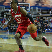 Rio Grande Valley Vipers Guard Jarvis Threatt (10) drives towards the basket in the first half of a NBA D-league regular season basketball game between the Delaware 87ers and the Rio Grande Valley Vipers (Houston Rockets) Saturday, Dec. 27, 2014 at The Bob Carpenter Sports Convocation Center in Newark, DEL