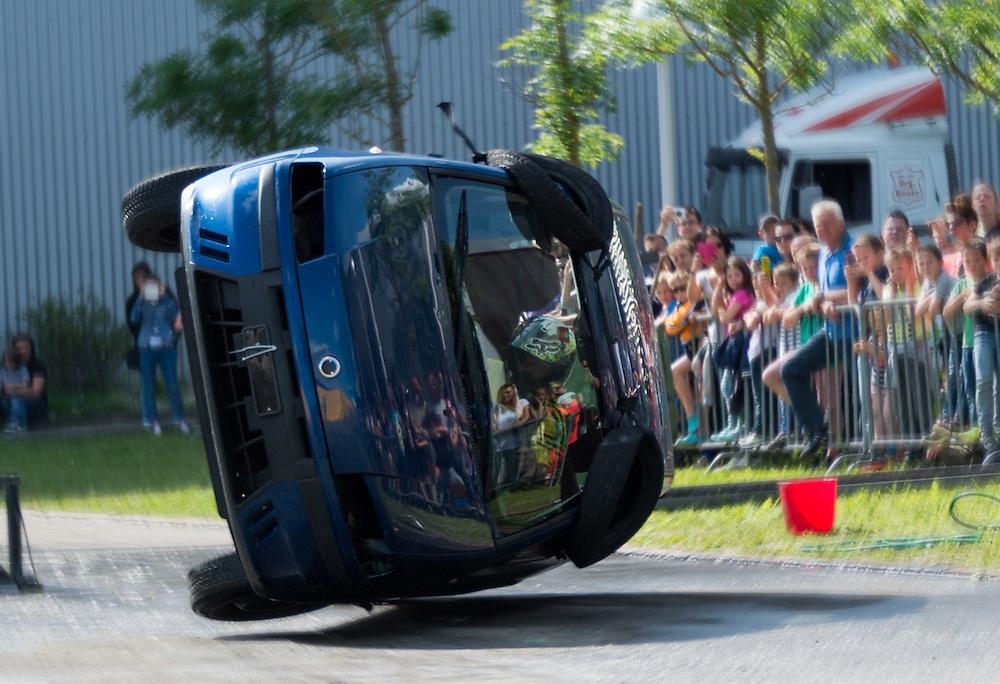 Overturning car stunt