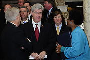 "1/22/13/  Jackson MS -Governor Phil Bryant joins the PLAN (Pro Life America Network) and speaks at the Mississippi State capital in support of his Pro Life agenda on the 40th Anniversary of Roe-v-Wade. Governor Bryant asked  for people to ""pray for the unborn babies"" and Bryant is pushing hard to close the States only operating Abortion Clinic. Photo© Suzi Altman"