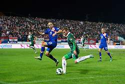OSIJEK, CROATIA - Tuesday, October 16, 2012: Wales' Simon Church in action against Croatia during the Brazil 2014 FIFA World Cup Qualifying Group A match at the Stadion Gradski Vrt. (Pic by David Rawcliffe/Propaganda)