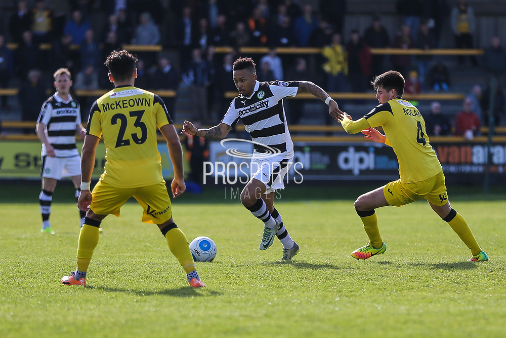 Forest Green Rovers Keanu Marsh-Brown(7) runs forward during the Vanarama National League match between Southport and Forest Green Rovers at the Merseyrail Community Stadium, Southport, United Kingdom on 17 April 2017. Photo by Shane Healey.