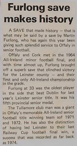 Furlong save makes history,