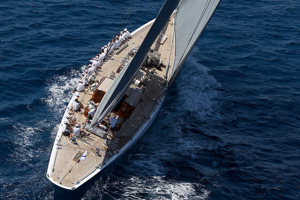 SPAIN, Palma. 21st June 2013. Superyacht Cup. J Class. Race three, coastal race. Ranger.