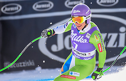 19.01.2019, Olympia delle Tofane, Cortina d Ampezzo, ITA, FIS Weltcup Ski Alpin, Abfahrt, Damen, im Bild Ilka Stuhec (SLO, dritter Platz) // third place Ilka Stuhec of Slovenia reacts after her run in the ladie's Downhill of FIS ski alpine world cup at the Olympia delle Tofane in Cortina d Ampezzo, Italy on 2019/01/19. EXPA Pictures © 2019, PhotoCredit: EXPA/ Erich Spiess
