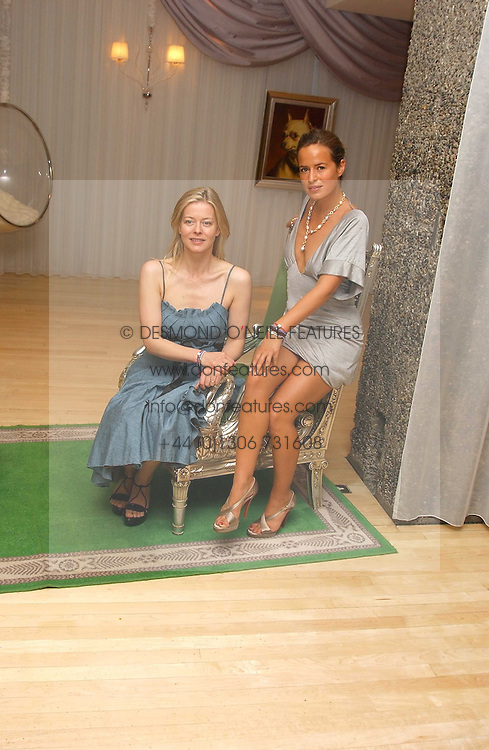 Left to right, LADY HELEN TAYLOR and JADE JAGGER at party in aid of cancer charity Clic Sargent held at the Sanderson Hotel, Berners Street, London on 4th July 2005.<br /><br />NON EXCLUSIVE - WORLD RIGHTS