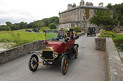 Model T Ford's group drive through the grounds of Westport House on saturday last. The Ford Model T Annual Rally was hosted by Hotel Westport last weekend, the group enjoyed a photo opportunity at  Westport House on their way to Leenane on saturday last.<br /> Pic Conor McKeown
