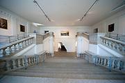 Treppenhaus, Militärhistorisches Museum innen (umgebaut von Liebeskind), Neustadt, Dresden, Sachsen, Deutschland | staircase, interior of Military Museum (rebuilt by Liebeskind), Neustadt, Dresden, Saxony, Germany,