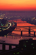Pittsburgh, PA, Sunrise, Bridges, Monongahela River