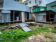 30 AUGUST 2018 - BANGKOK, THAILAND: A labor camp being put together for construction workers in central Bangkok.     PHOTO BY JACK KURTZ