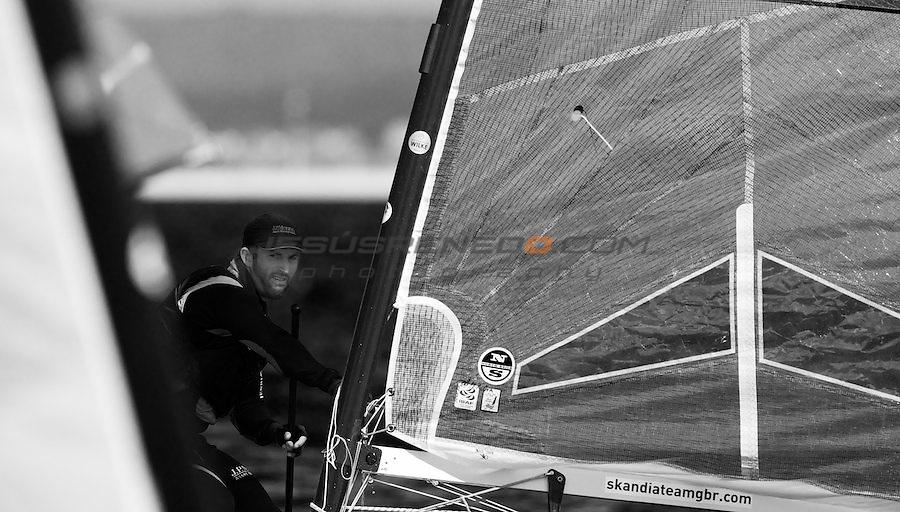 Arenal Training Camp regatta, Palma de Mallorca,Spain,Dinghy sailing,olympic,UK olympic star Ben ainslie training.
