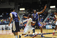 """Ole Miss Rebels guard Stefan Moody (42) vs. TCU Horned Frogs forward Brandon Parrish (11) at the C.M. """"Tad"""" Smith Coliseum in Oxford, Miss. on Thursday, December 4, 2014. TCU won 66-54."""