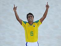 FIFA BEACH SOCCER WORLD CUP 2008 BRAZIL - SPAIN   18.07.2008 BRUNO (BRA) celebrates the equalizing goal.