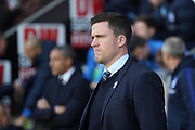 Wigan Athletic manager Gary Caldwell during the EFL Sky Bet Championship match between Wigan Athletic and Brighton and Hove Albion at the DW Stadium, Wigan, England on 22 October 2016.