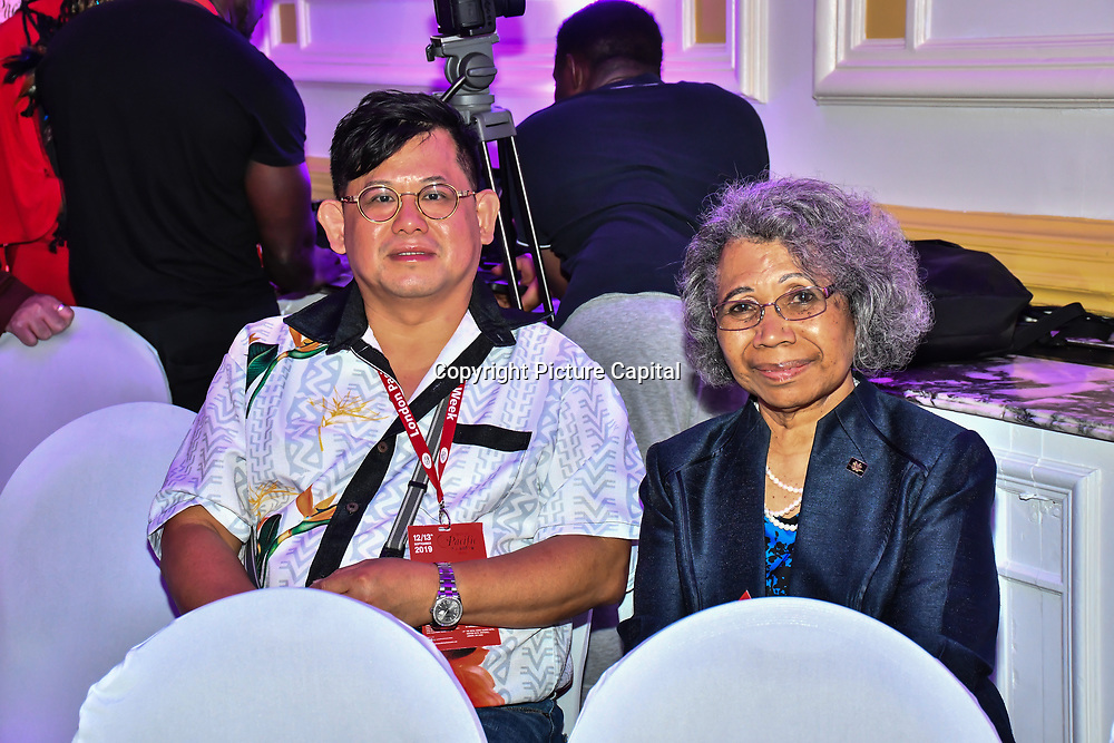 Her Excellency - Ms Winnie Kiap of Papua New Guinea attend at the London Pacific Fashion Week 2019 at Royal Horseguards Hotel, on 13 September 2019, London, UK.