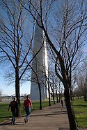 Tourists Walk Towards the Gateway Arch, Jefferson National Expansion Memorial, St. Louis, Missouri