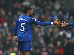 Ashley Williams of Everton hands away the captains armband after being sent off - Mandatory by-line: Jack Phillips/JMP - 03/03/2018 - FOOTBALL - Turf Moor - Burnley, England - Burnley v Everton - English Premier League