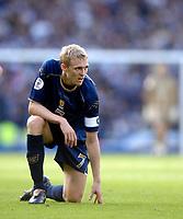 Photo: Jed Wee/Sportsbeat Images.<br /> Scotland v Lithuania. UEFA European Championships Qualifying. 08/09/2007.<br /> <br /> Scotland captain Darren Fletcher.
