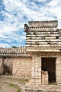 Puuc Architectural Style Quadrangle of the Birds, Uxmal Maya Ruins, Yucatan Peninsula, Mexico 2007 NR